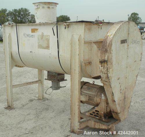 Used- Carbon Steel J.H. Day Double Spiral Ribbon Blender, model D-10F, 36 cubic feet working capacity