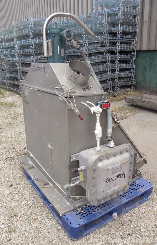 Used- J.H. Day Double Spiral Ribbon Blender, 100 Cubic Feet Working Capacity (115 Total), 304 Stainless Steel. Non-Jacketed ...