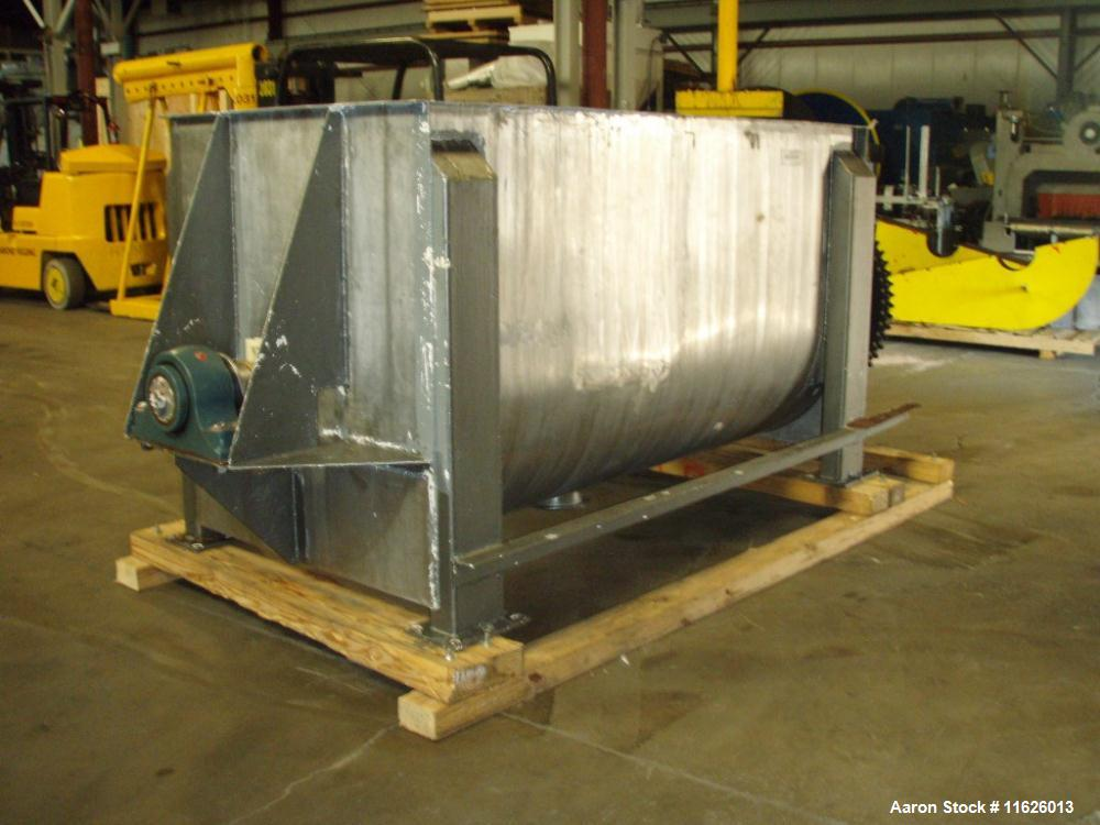 Used- Stainless Steel Jones Superior Double Ribbon Blender, 100 cubic feet