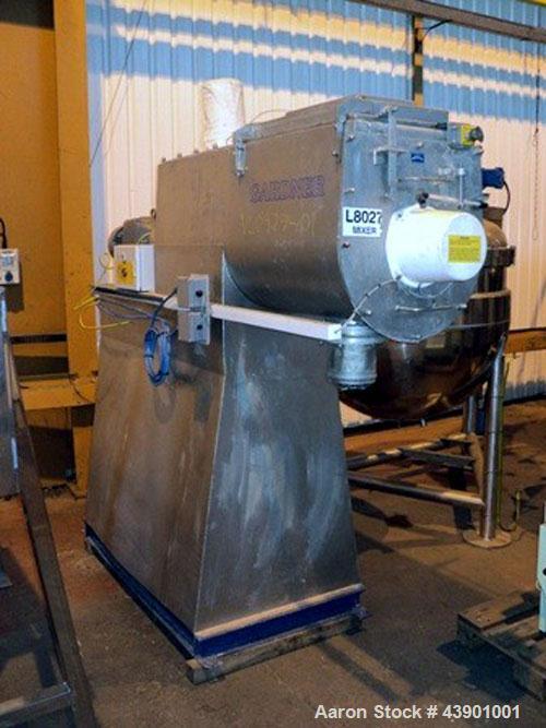 Used- KEK-Gardner Model 200L 316 Stainless Steel Ribbon Blender. 200 Liter working capacity and approximately 300 liter tota...
