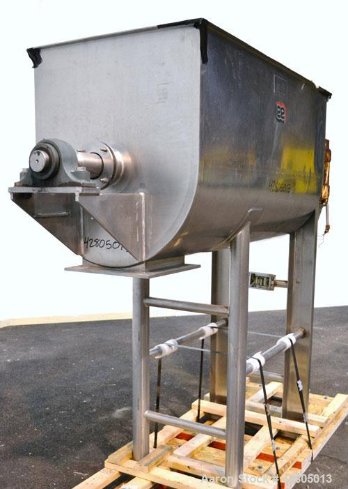 Used- Lee Industries Double Spiral Ribbon Blender, 27.8 Cubic Feet (1200 Pound) Working Capacity, Model 1200TDR, 316 Stainle...
