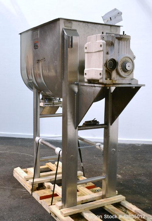 Used- Lee Industries Double Spiral Ribbon Blender, 22.2 Cubic Feet (900 Pound) Working Capacity, Model 900TDR, 316 Stainless...