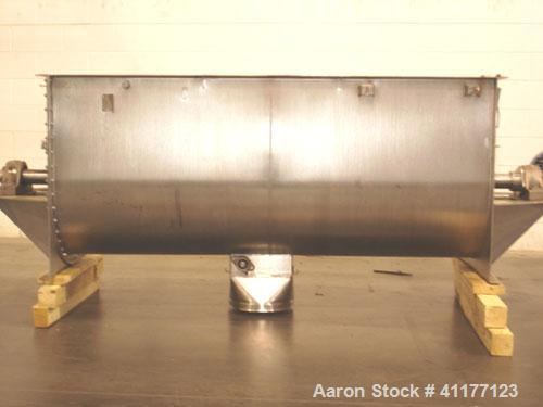 Used- Lowe Industries Double Spiral Ribbon Blender, 36 Cubic Feet Working Capacity, Model CD-36, 304 Stainless Steel. Non-ja...