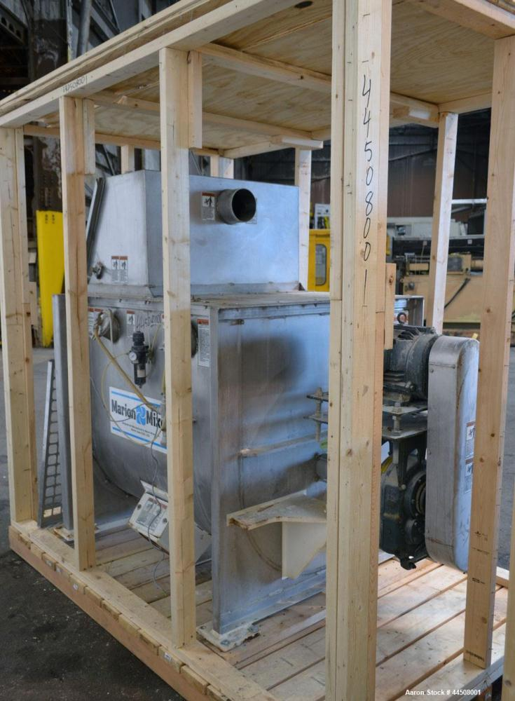 Used- Marion Ribbon Blender, Model SRS-3648, 30 Cubic Foot Working Capacity (41 Total), 304 Stainless Steel. Non-jacketed tr...