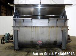 Used- Ribbon Blender, Approximate 103 Cubic Foot Capacity, 304 Stainless Steel.