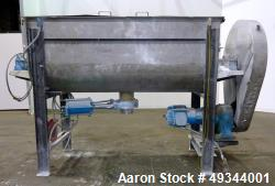 Used- Double Spiral Ribbon Blender, Approximate 64 Cubic Feet Working Capacity.