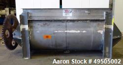 Used- Aaron Process Double Spiral Ribbon Blender, 304 Stainless Steel, Approximate 100 Cubic Feet Working Capacity. Non-jack...