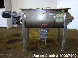 Used- American Process Double Spiral Ribbon Blender, Model DRB-24H, 24 Cubic Fee