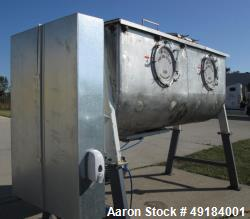 Used- Pillsbury Company Double Spiral Ribbon Blender. Approximate 128 cubic feet. 304 stainless steel. Non-jacketed trough a...
