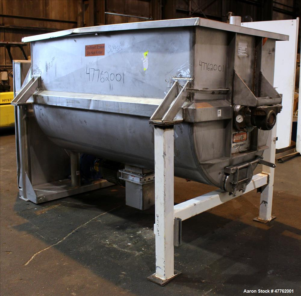 Used- Mueller Double Spiral Ribbon Blender, 106.9 Cubic Feet Capacity, 304 Stain
