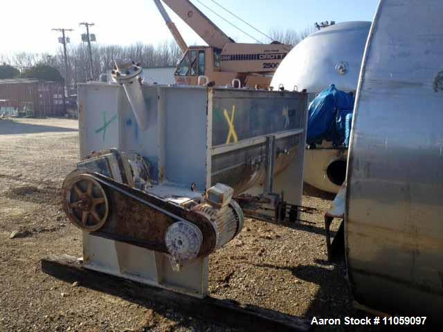 "Used- Munson 100 cubic/foot jacketed Ribbon Mixer. 304 stainless steel construction, trough dimension 42"" wide x 108"" long x..."
