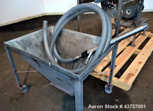 "Used- Ribbon Blender, 15 Cubic Feet, 304 Stainless Steel. Non-jacketed trough 25"" wide x 48"" long x approximately 28"" deep. ..."