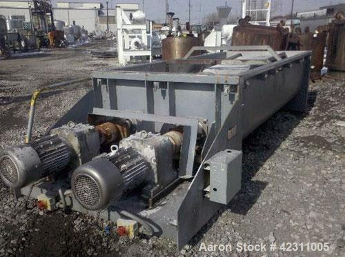 Used- Ten Have Engineering Dual Shaft Ribbon Blender, 73 cubic feet, type RYS Lintmenger. Stainless steel trough 49'' wide x...