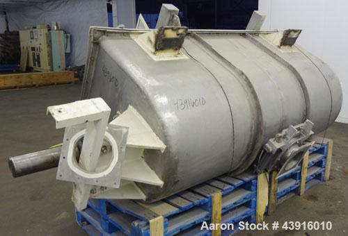 Used- Stainless Steel Custom Double Spiral Ribbon Blender, 55 Cubic Feet Working