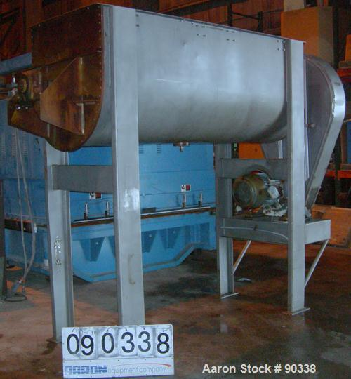 "USED- Ribbon Blender, 64 Cubic Feet Working Capacity, 304 Stainless Steel. Non-jacketed trough 36"" wide x 96"" long x approxi..."