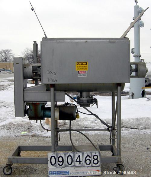 """USED- Ribbon Blender, 20 Cubic Foot Working Capacity, 304 Stainless Steel. Non-jacketed trough 28"""" wide x 48"""" long x approxi..."""