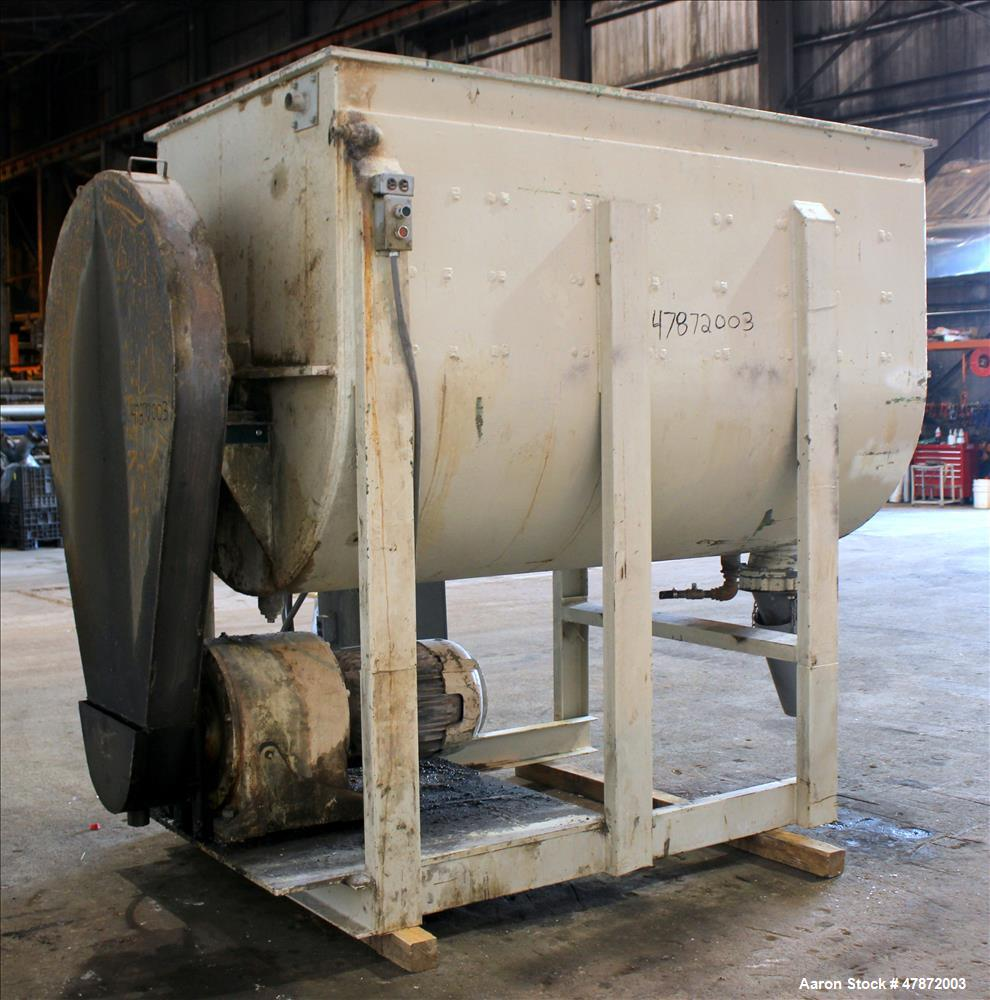 Used- Paul O. Abbe Ribbon Blender, 150 Cubic Feet, 304 Stainless Steel