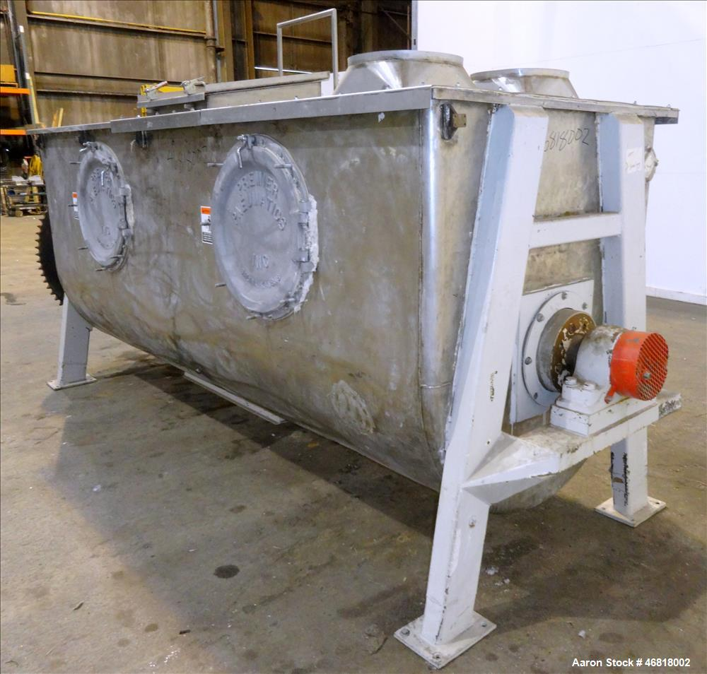 Used- The Pillsburg Company Double Spiral Ribbon Blender, Cubic Feet, 304 Stainl