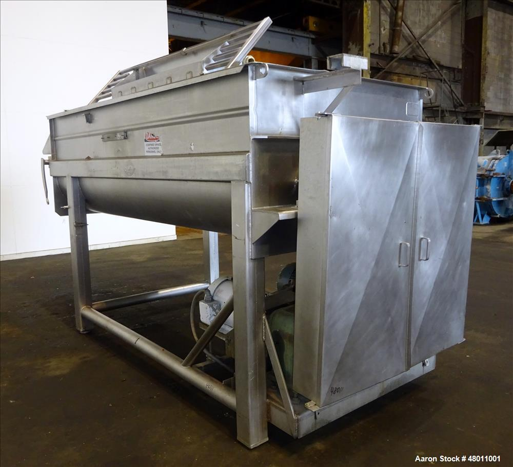 Used- Rietz Twin Shaft Ribbon Mixer, Model RS.28.K5410