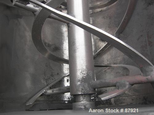 """Used- Robinson Double Spiral Ribbon Blender, Size 7, 44 Cubic Feet Working Capacity, Carbon Steel. Jacketed trough 30"""" wide ..."""