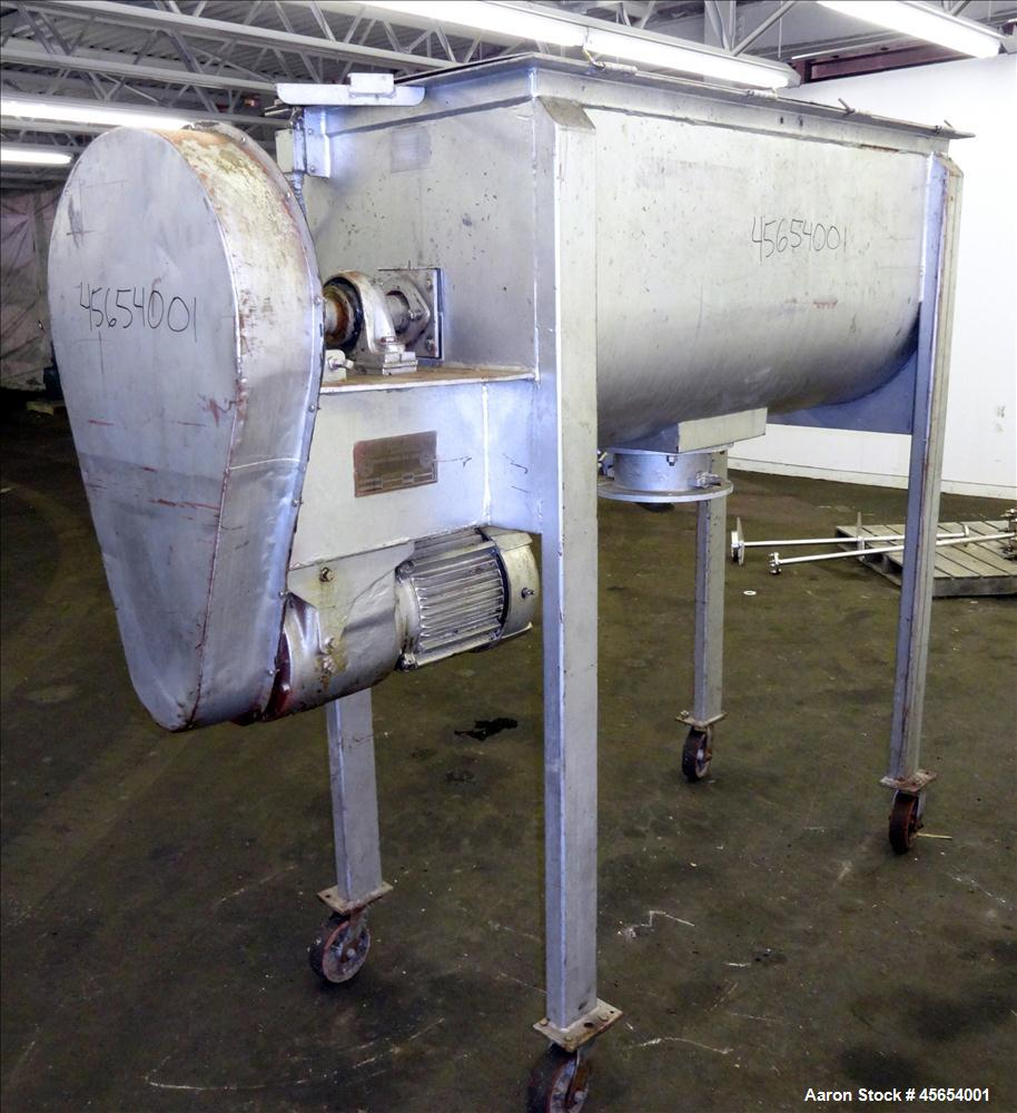 Used- S. Howes Double Spiral Ribbon Blender, 17.8 Cubic Feet Working Capacity