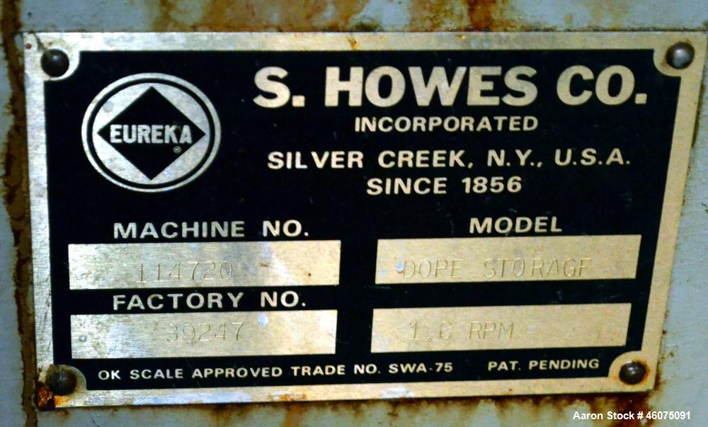 "Used- S. Howes Ribbon Blender, Approximate 1700 Total Cubic Feet, Stainless Steel. Enclosed horizontal tank approximate 120""..."