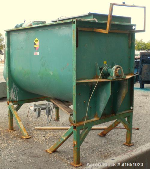 Used- Scott Equipment Paddle/Ribbon Blender, model SPRM487, 99 cubic feet working capacity, carbon steel. Non-jacketed troug...
