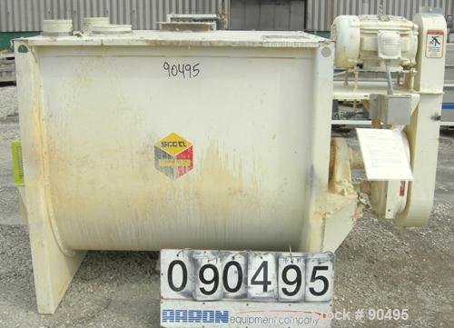 USED: Scott Equipment Co double spiral ribbon blender, model SRM404SS, 35 cubic feet, 304 stainless steel. Non-jacketed trou...