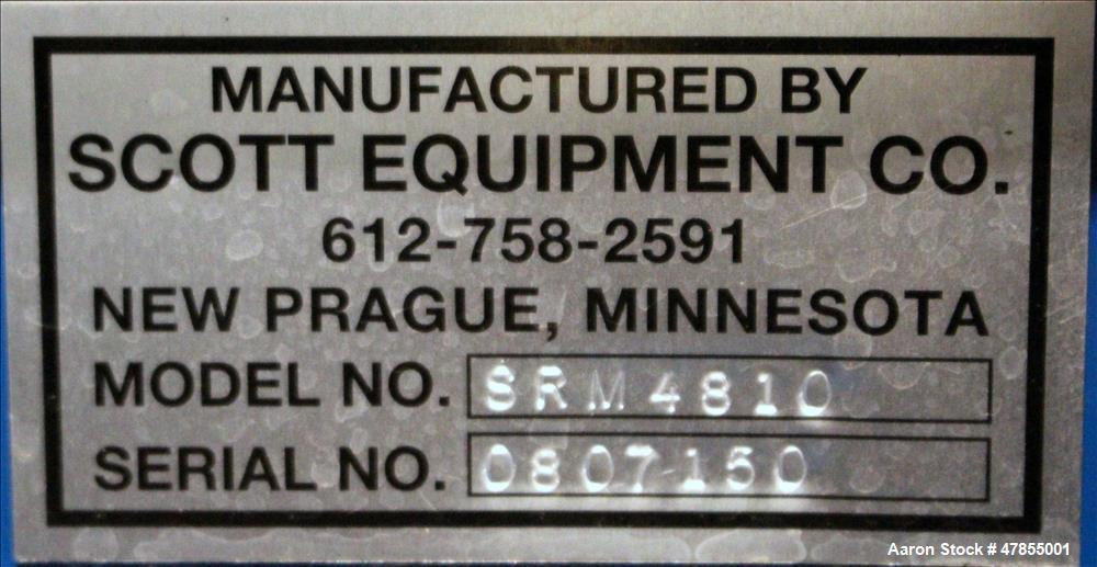 Used- Scott Equipment Company, Model SRM 4810, Single Ribbon Blender