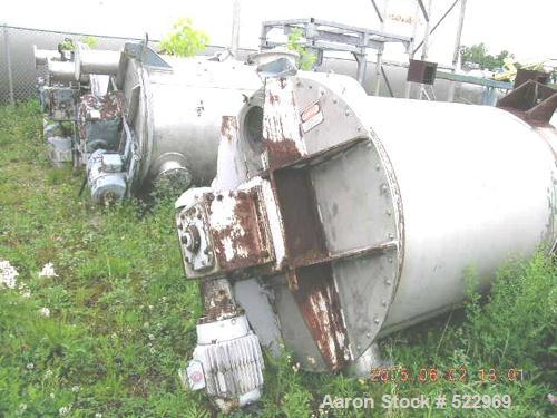 "USED: 100 cubic foot Sprout Bauer blender - dryer, stainless steel construction. Approximately 48"" diameter x 90"" straight s..."