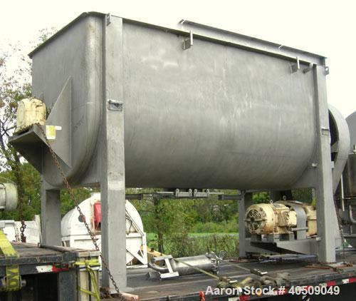 Used- Sprout Waldron Double Spiral Ribbon Blender, Model 14,000#, 267 cubic feet working capacity, 304 stainless steel. Non-...