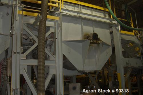 USED- Sprout Waldron Double Spiral Ribbon Blender, Model B-340, 340 cubic foot working capacity, 316 stainless steel.  Jacke...