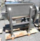 Unused- New Double Ribbon Mixer. 5 cubic foot working capacity, polished 304 stainless steel contacts. Trough measures 32
