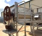 Used- Double Spiral Ribbon Blender, Approximate 36 Cubic Feet, Stainless Steel. Trough approximately 30