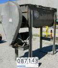 USED: Double spiral ribbon blender, 36 cubic feet working capacity, 304 stainless steel. Non-jacketed trough 30