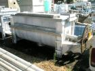 Used- Aaron Process double spiral ribbon blender, 80 cubic feet working capacity, stainless steel. Non-jacketed trough 40