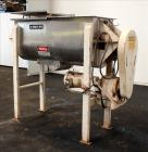 Used- Beardsley & Piper Double Spiral Ribbon Blender, Model PRB-18-Sanitary, 18 Cubic Feet, 304 Stainless Steel. Non-jackete...