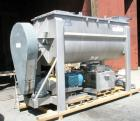 Used- American Process double spiral ribbon blender, model DRB-120, 120 cubic foot working capacity, stainless steel. Non-ja...