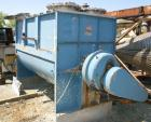 USED: S Howes Mixall double ribbon blender, 100 cubic feet, model M488, 316 stainless steel. Carbon steel jacketed trough 48...