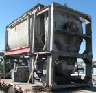 Used- J.H. Day Double Spiral Ribbon Blender, 270 cubic feet working capacity (298 total), carbon steel. Jacketed trough 60