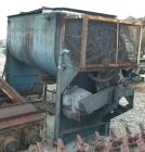 Used- Marion Interrupted Double Spiral Ribbon Blender, 130 Cubic Feet, Carbon Steel. Carbon steel bottom jacketed trough 47