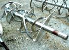 Used- Stainless Steel Double Spiral Ribbon Agitator For 55 Cubic Foot Blender