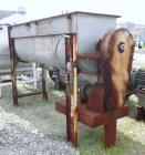 Used- Double Spiral Ribbon Blender, 80 Cubic Feet Working Capacity, 304 Stainless Steel. Non-jacketed trough 36