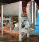 USED- Ribbon Blender, 64 Cubic Feet Working Capacity, 304 Stainless Steel. Non-jacketed trough 36