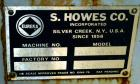Used- S. Howes Ribbon Blender, Approximate 1700 Total Cubic Feet, Stainless Steel. Enclosed horizontal tank approximate 120