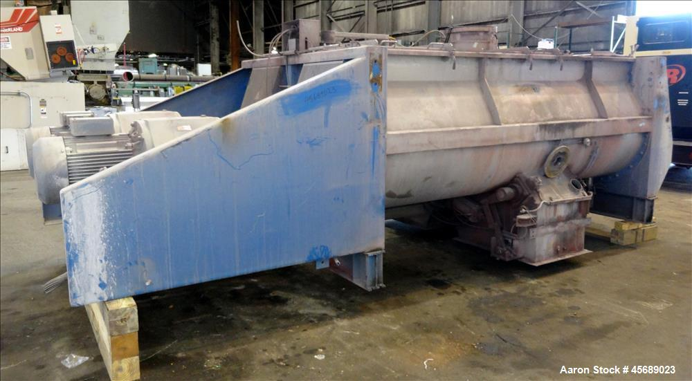 Used- Van den Berg BMW Ribbon Blender, Model 1000-V-Omega, 304 Stainless Steel, Approximate 176 Cubic Feet. 5000 Liter maxim...