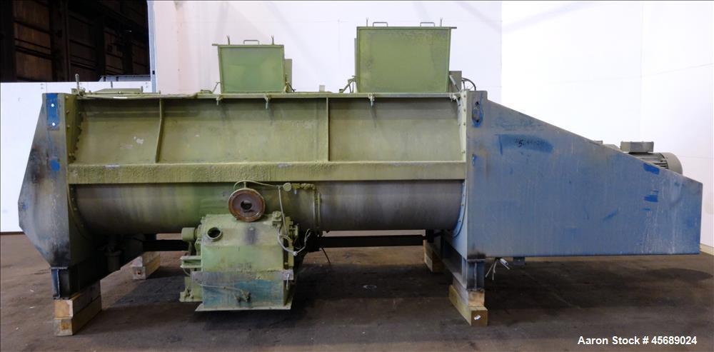 Used- Van den Berg BMW Ribbon Blender, Model 1000-V-Omega, 304 Stainless Steel, Approximate 176 Cubic Feet. 5000 Liter maxim...