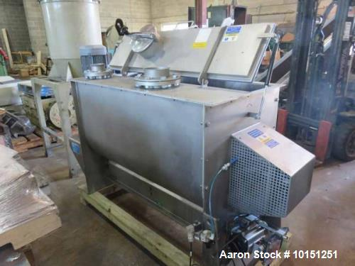 Used- Winkworth Spiral Ribbon Blender, Model UT460, 15 Cubic Foot Working Capacity, 22 Cubic Foot Total, Stainless Steel. No...