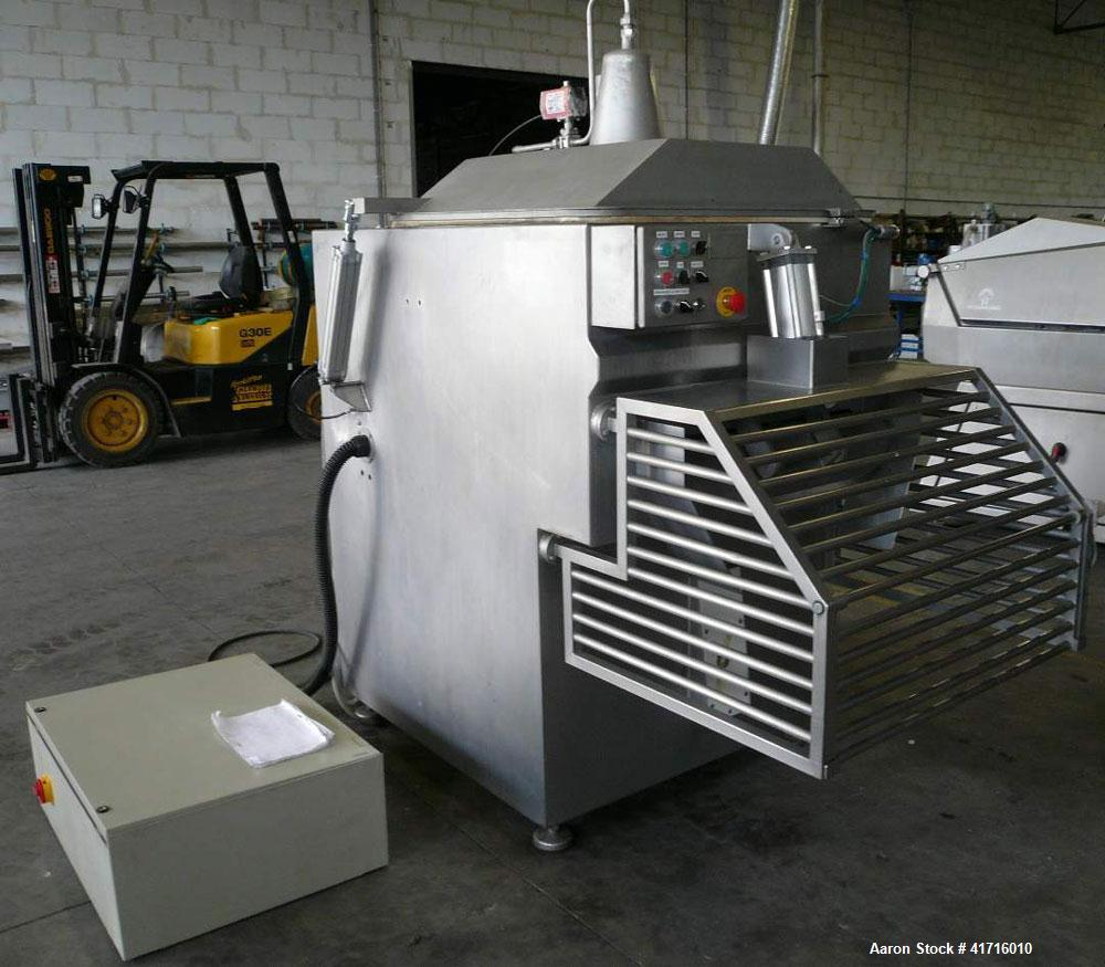 Used- Wolfking Ribbon Mixer. Maximum capacity (400 liters). Stainless steel construction. Two speed. (2) Shafts. Dimensions ...