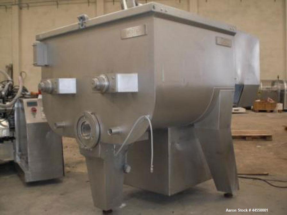 Used-Wolfking Model TSMG 2500-250 Twin Shaft Grinder-Mixer.  Capacity 88 cubic feet (2500 liters).  Unit dimensions: 11.4' x...